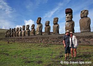 Asa Gislason At Ahu Tongariki Easter Island
