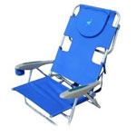 Blue beach chair