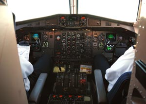 Airplane cockpit seats