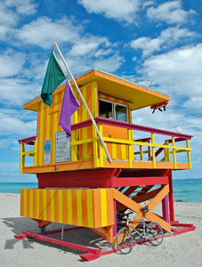 Florida life guard watch tower
