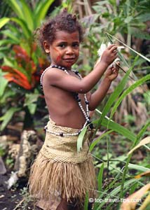 Malekula - Girl in traditional costume