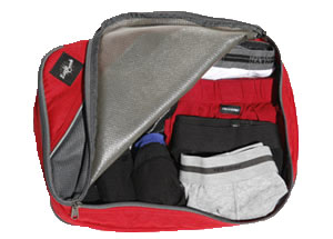 Eagle Creek packing cube filled with underwear