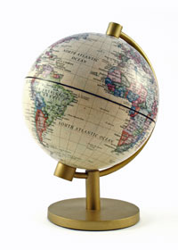 World map on a table stand