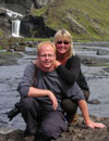Asa and Birgir Gislason traveling in Iceland