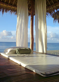 Spa massage room on a beach