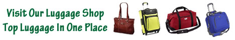 Top Travel Tips luggage shop banner